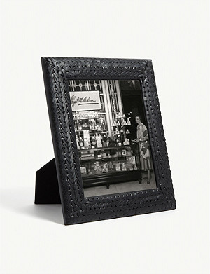 RALPH LAUREN HOME Adrienne woven leather photo frame 25.4cm