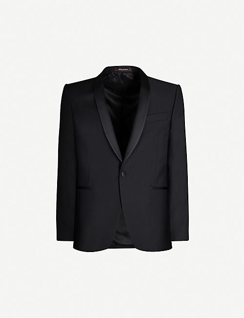 OSCAR JACOBSON: Filip regular-fit wool tuxedo blazer