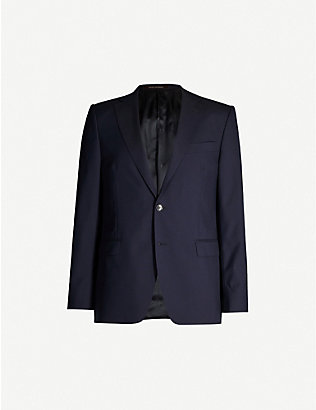 OSCAR JACOBSON: Falk regular-fit wool blazer