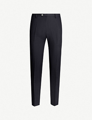 OSCAR JACOBSON Diego slim-fit tapered linen trousers