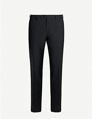 OSCAR JACOBSON: Diego slim-fit tapered leg wool trousers
