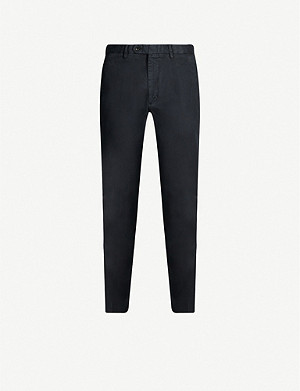 OSCAR JACOBSON Danwick slim-fit stretch-cotton chinos