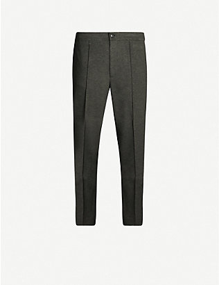 OSCAR JACOBSON: Neil straight-fit stretch-jersey trousers