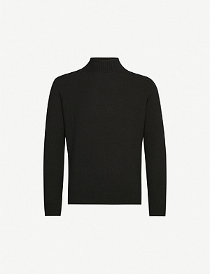 OSCAR JACOBSON Salim roll-neck wool-blend jumper