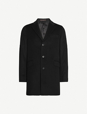 OSCAR JACOBSON Saks wool-blend coat