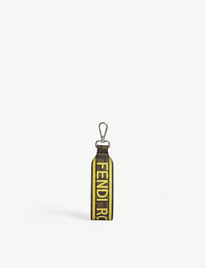 FENDI Branded coated canvas keyring