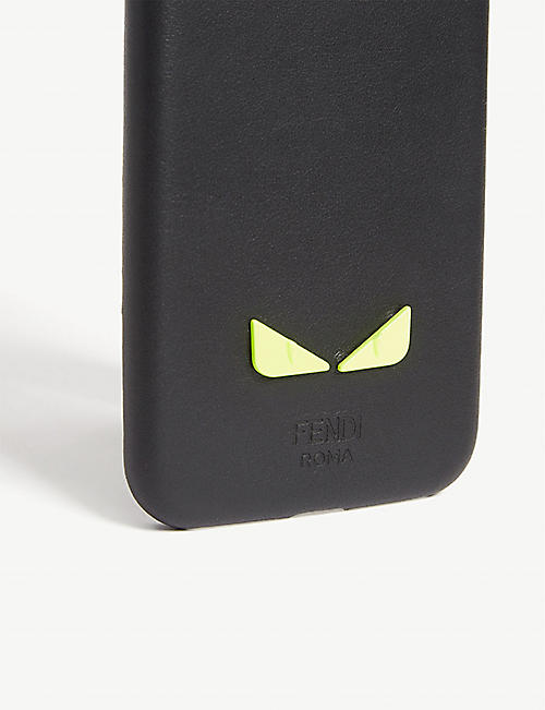 FENDI Bug Bags leather iPhone X case