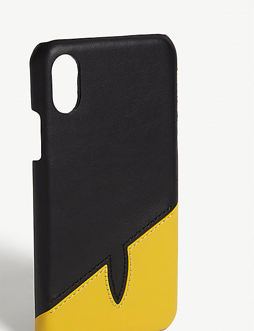 FENDI Bag Bugs leather iPhone X case