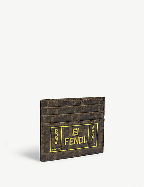 FENDI Roma amor canvas card holder