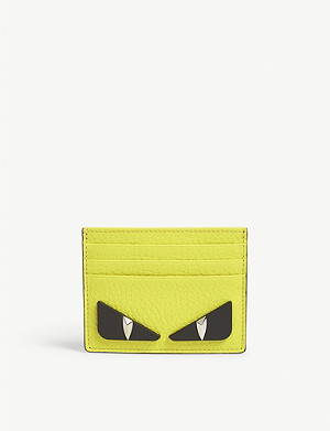 FENDI Bag Bugs leather card holder