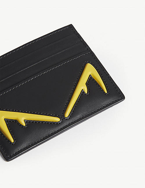 FENDI Diabolic Eyes leather card holder