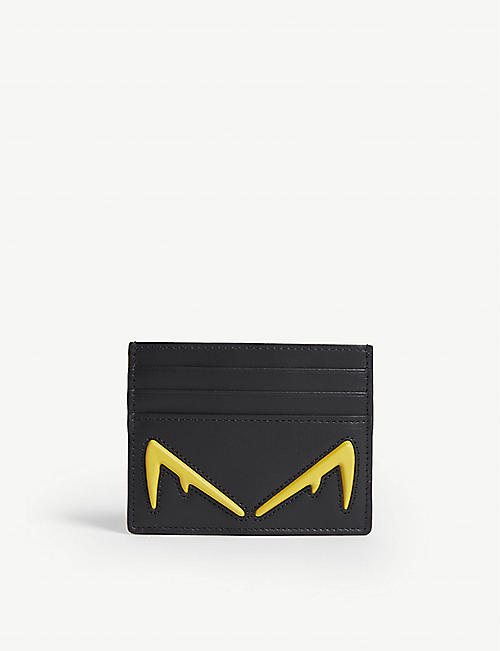4546d428de4 FENDI Diabolic Eyes leather card holder