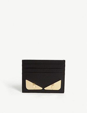 FENDI Bug-Kun eyes leather card holder