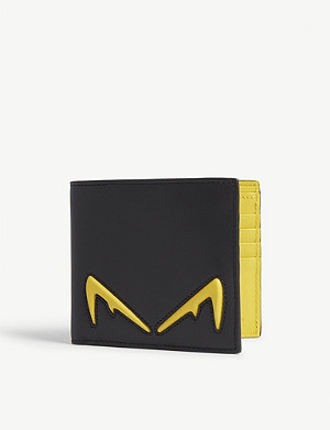 FENDI Diabolic Eyes leather billfold wallet