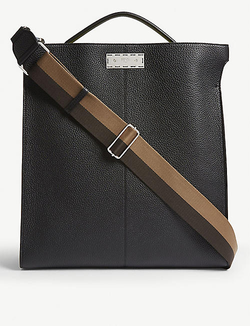 FENDI Peekaboo grained leather tote