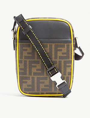 FENDI FF coated canvas reporter cross-body bag