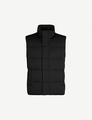 FENDI Logo-embroidered shell-down gilet