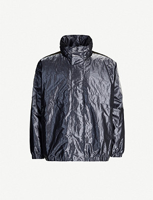 FENDI Metallic shell hooded jacket