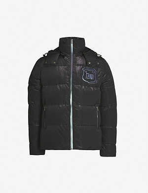 FENDI Logo-print padded shell-down jacket