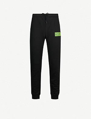 FENDI Logo-embroidered woven jogging bottoms