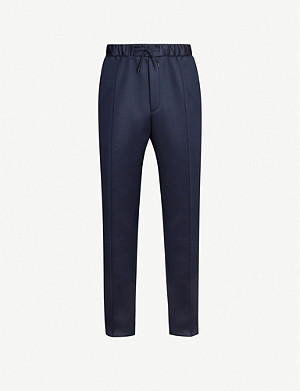 FENDI Logo-embroidered stretch-jersey jogging bottoms
