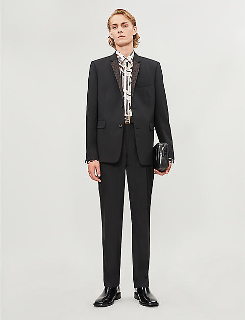 FENDI Graphic-print regular-fit silk-satin shirt