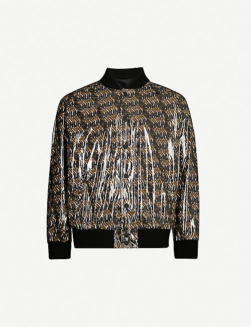 FENDI Logo-print shell and PVC jacket