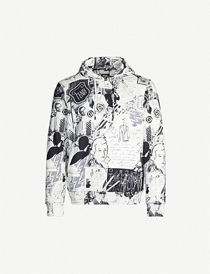 FENDI Karl collage-print cotton-jersey hoody