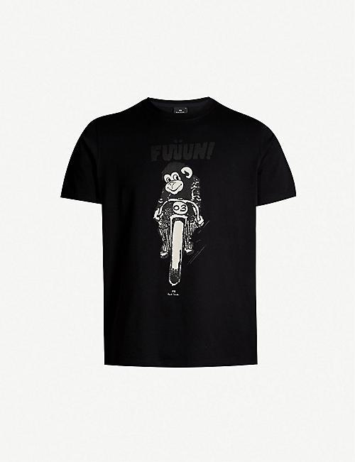 db731f520 PS BY PAUL SMITH Monkey-print cotton-jersey T-shirt