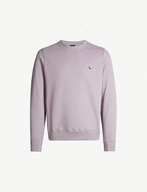 PS BY PAUL SMITH Zebra badge cotton-jersey sweatshirt