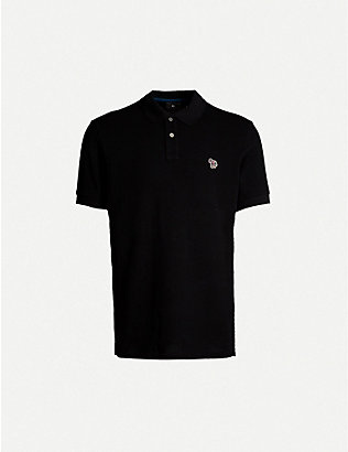PS BY PAUL SMITH: Zebra-embroidered cotton-piqué polo shirt