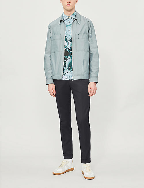 PS BY PAUL SMITH Contrast-stitching cotton-blend jacket