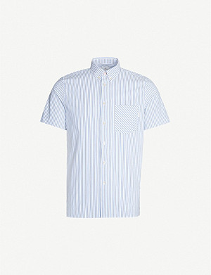 PS BY PAUL SMITH Striped short-sleeved cotton shirt