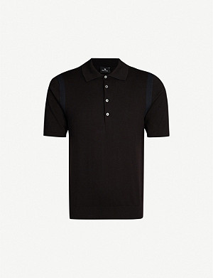 PS BY PAUL SMITH Side-stripe cotton-knit polo shirt