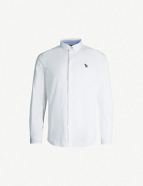 779bfa7af04 PS BY PAUL SMITH Zebra-embroidered tailored-fit cotton Oxford shirt