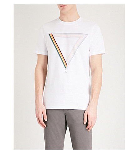 Ps By Paul Smith  Prism printed cotton-jersey T-shirt