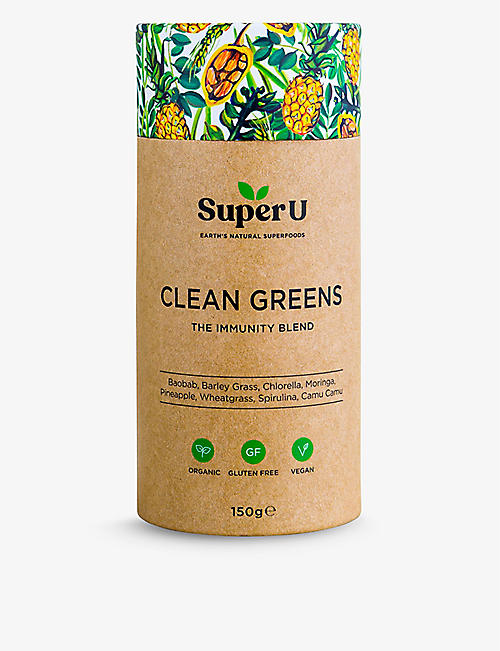 SUPER U Clean Greens Immunity Blend 150g