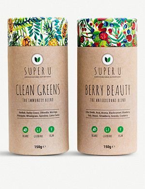 SUPER U The Feel Good bundle set of two x 100g