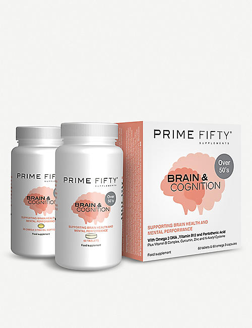PRIME FIFTY Brain Cognition supplement 120 tablets