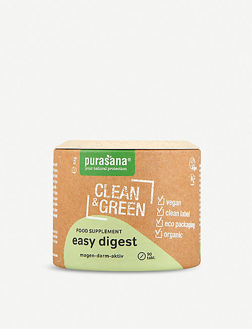 PURASANA: Clean & Green Easy Digest food supplement capsules box of 90