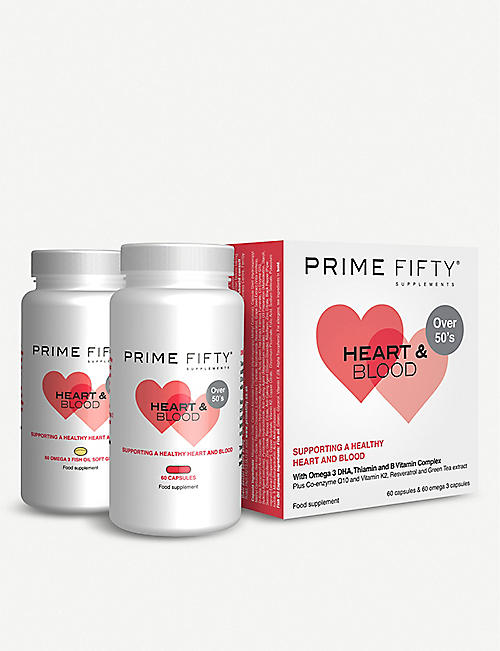 PRIME FIFTY Heart and Blood supplement 120 capsules