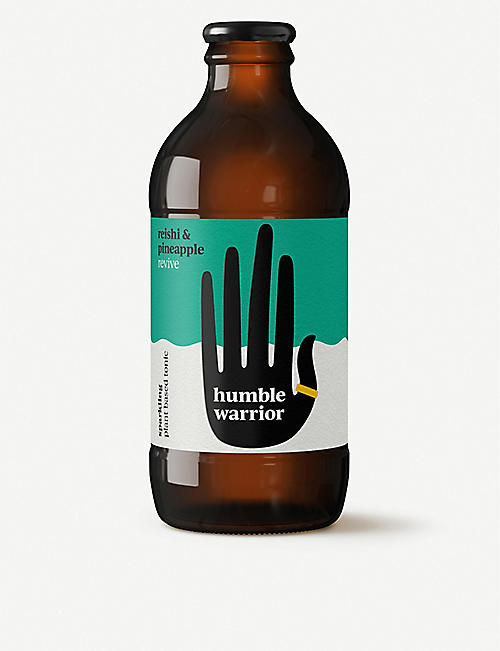 HUMBLE WARRIOR: Reishi and pineapple sparkling plant-based tonics pack of six