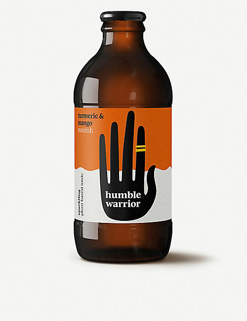 HUMBLE WARRIOR: Turmeric and mango sparkling plant-based tonics pack of six
