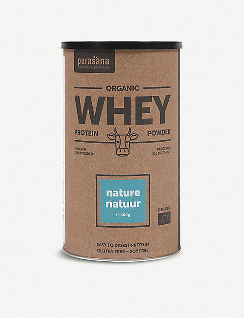 PURASANA: Natural whey protein powder 400g