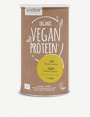 PURASANA: Banana and Lucuma Vegan Rice Protein powder 400g
