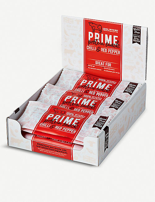 PRIME BARS Grass fed Beef, Chilli and Red Pepper set of 12