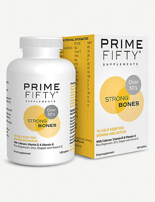 PRIME FIFTY: Strong Bones supplement 120 tablets