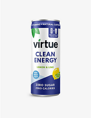 VIRTUE: Clean Energy Water lemon and lime 12x250ml