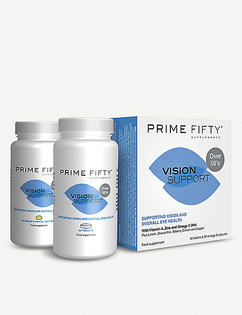 PRIME FIFTY Vision Support supplement 120 tablets