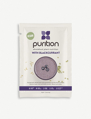 PURITION Dairy-free blackcurrant protein powder 8 x 40g